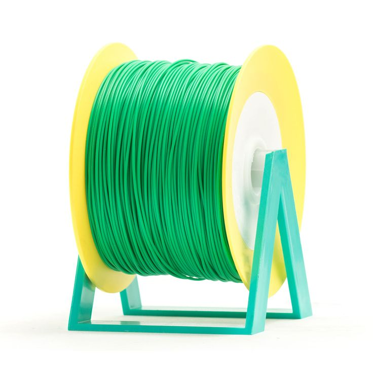 PLA Filament Color Fern Green EUMAKERS | Diameter 1,75mm | New spool is convertible into a coat hanger. Spool holder included | Weight: 1 Kg | www.monzamakers.com #3Dprinting #3Dprint #3Dfilament #3Dfilaments #Eumakers #MonzaMakers