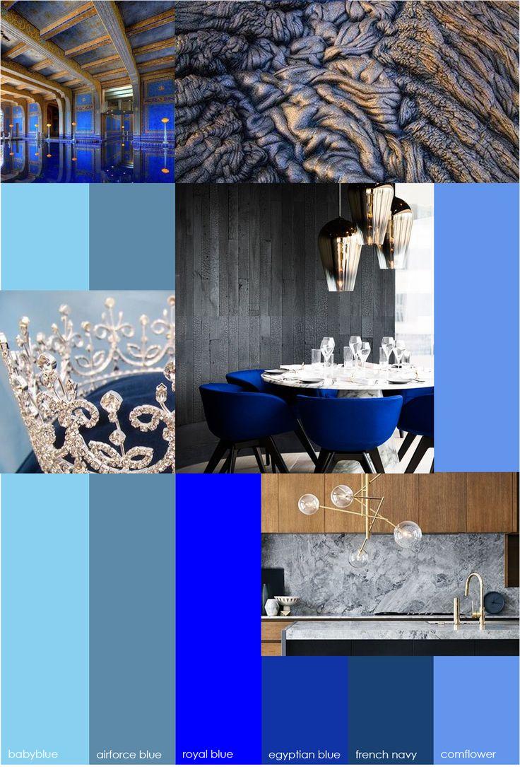 GZ STUDIO {royal blue}  Koningsdag staat voor de deur! Daarom deze week een post met een royaal tintje. Maar wat typeert een koninklijke touch? Alleen het voor-de-hand-liggende oranje of goud? Welnee! Wij gaan voor royal blue. • chique • adelijk • glaswerk • messing • rijk • barok • marmer • fluweel • warm • noten  Met vergrijste tinten blauw in combinatie met warme houtsoorten creëer je een adellijk gevoel, zónder het idee te hebben dat je in het Rijksmuseum staat. Kijk!