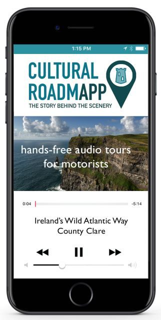 At last! A GPS-guided cultural audio tour #roadtrip app for Ireland! FREE!     AppStore: http://bit.ly/2rWuNjW & GooglePlay: http://bit.ly/2ubybbm