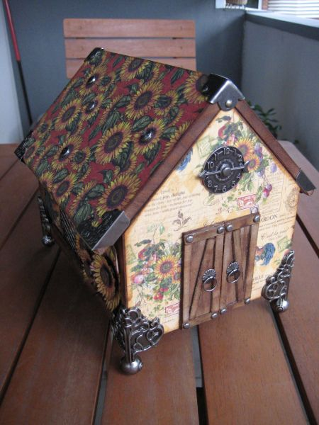French Country altered house by Maribel Plaza Pinto #graphic45 #alteredart
