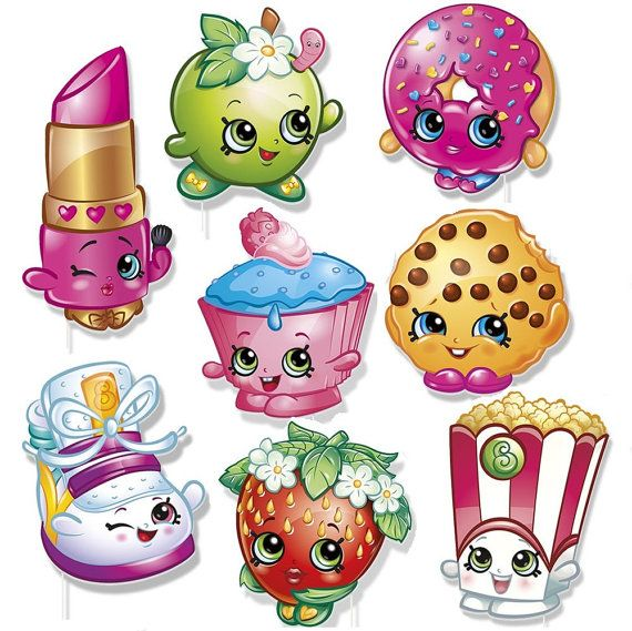 Shopkins PHOTO BOOTH PROPS Birthday Party by KidzPartyShoppe