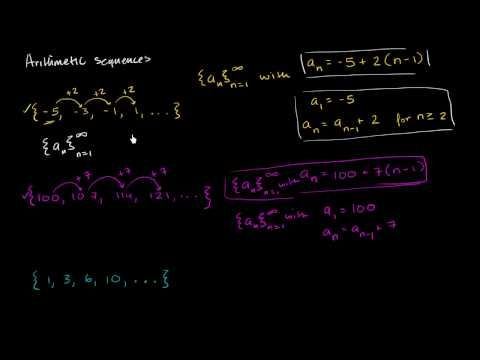 (1) Arithmetic sequences   Basic sequences and series   Khan Academy