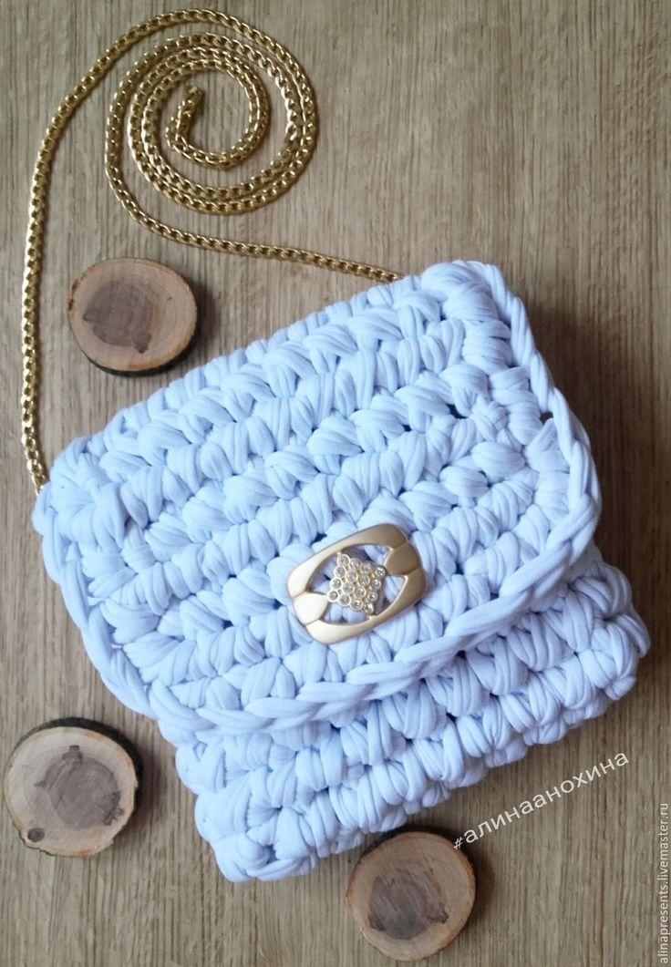 Купить Белоснежная сумочка - комбинированный, сумка ручной работы, вязаная сумка, клатч ручной работы