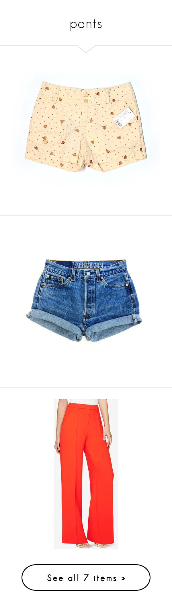 """""""pants"""" by lanalight ❤ liked on Polyvore featuring shorts, yellow, daughters of the liberation, yellow shorts, bottoms, short, black, women's clothing, high waisted ripped shorts and high waisted denim shorts"""