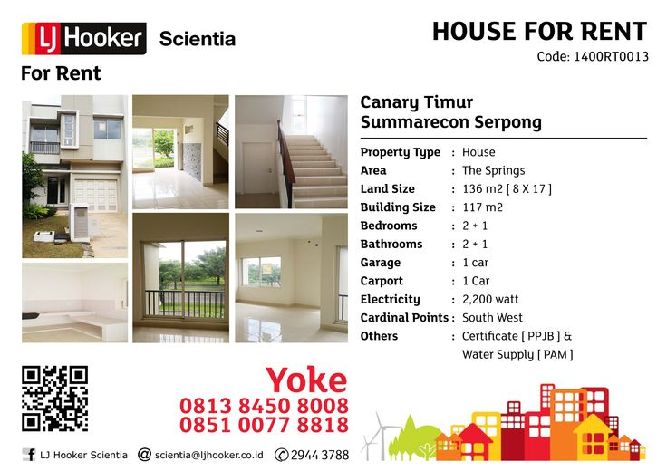 FOR RENT: Canary Timur @ The Springs, Summarecon Seprong