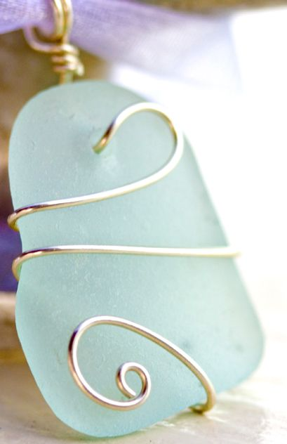beach glass jewelry | Sailing Jewelry : Sea glass, beach coral, beach glass, and other found ...