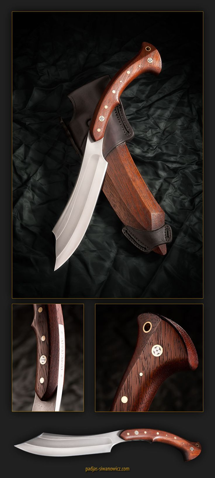 """this is really heavy tool.  steel: K110 Bohler (D2 eqv)  wood: kempas  knife dimensions: 460mm (~18"""") x 9mm (~0,354"""")  weight: 0,82kg (29 oz)"""