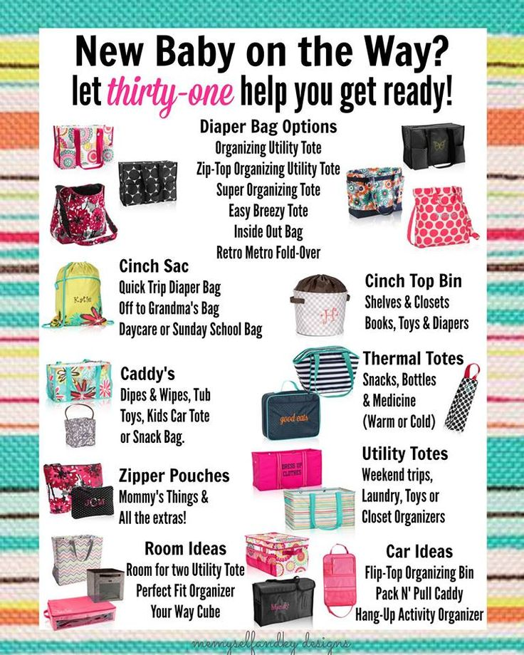 New Baby on the Way? Let thirty-one help you get ready! #newbaby #baby #babyorganization