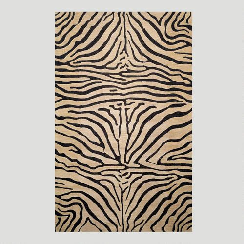 One of my favorite discoveries at WorldMarket.com: Zebra Wool Rug, Neutral