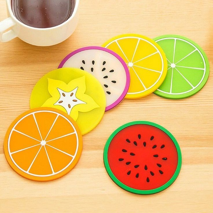 Hot Silicone Creative Fruit Shaped Coasters Non-slip Cup Mat Insulation Pads #Unbranded