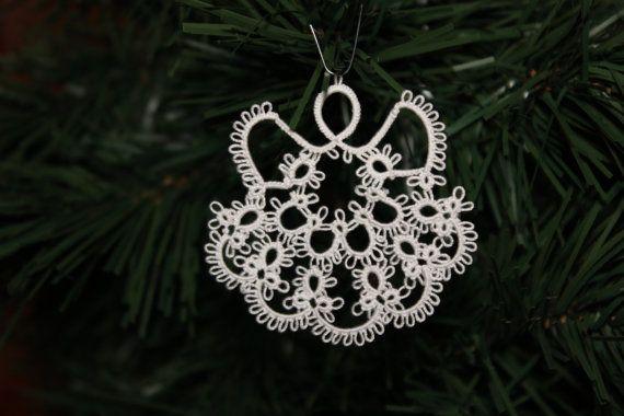 Ornamento di Natale angelo, CA 2.25inches alto, già pronti o personalizzati. Mio disegno - nave gratis - Scopri Mini & orecchini..--stupendo!
