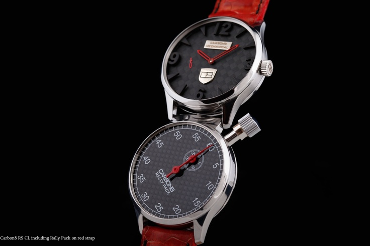 Carbon8 RS CL with the Rally Pack on red strap ... an unusual, but hot combo