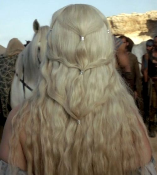 Oh, Game of thrones. I know thats a wig but it still motivates me to do my hair.