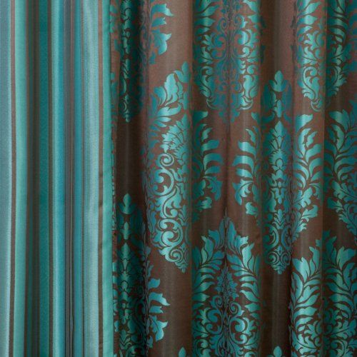 Amazon.com: Best Home Fashion Wide Width Damask Jacquard Curtain ...