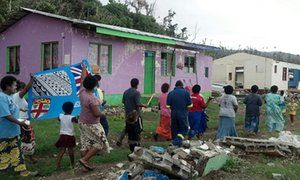 Villagers of Nasau, Koro, Lomaiviti, one of the areas worst affected by Tropical…