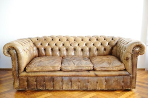 Vintage Chesterfield Winchester Club Sofa Canape Couch 3