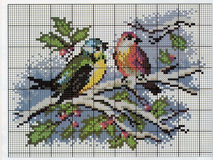 Wintery-Christmas cross stitch