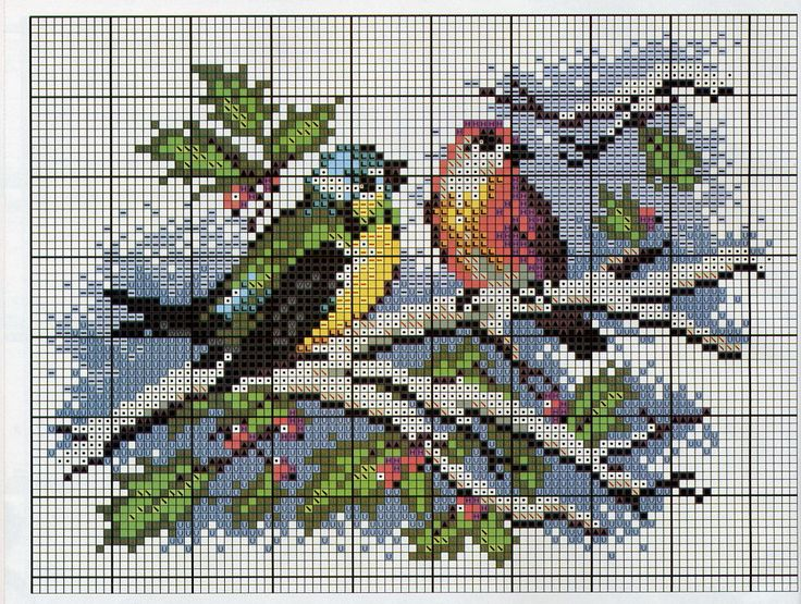 Wintery-Christmas cross stitch