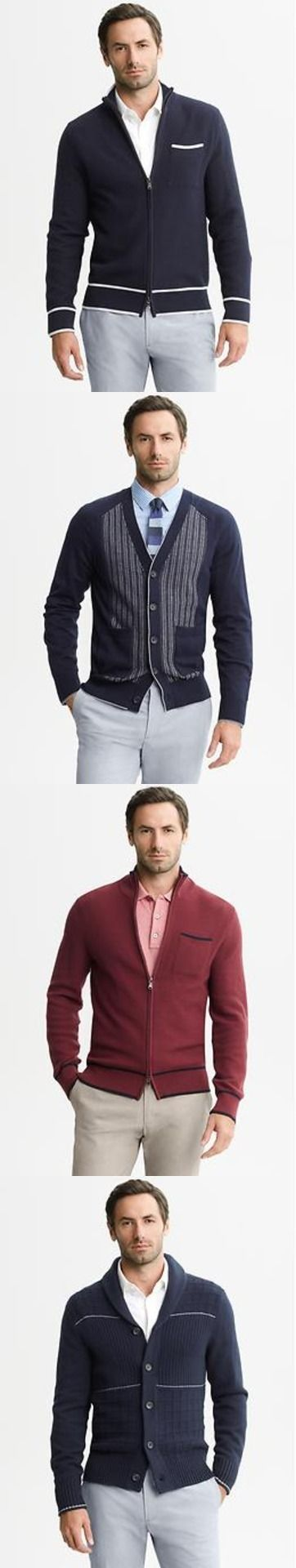 New cardigan sweaters for men from the Mad Men collection @Banana Republic