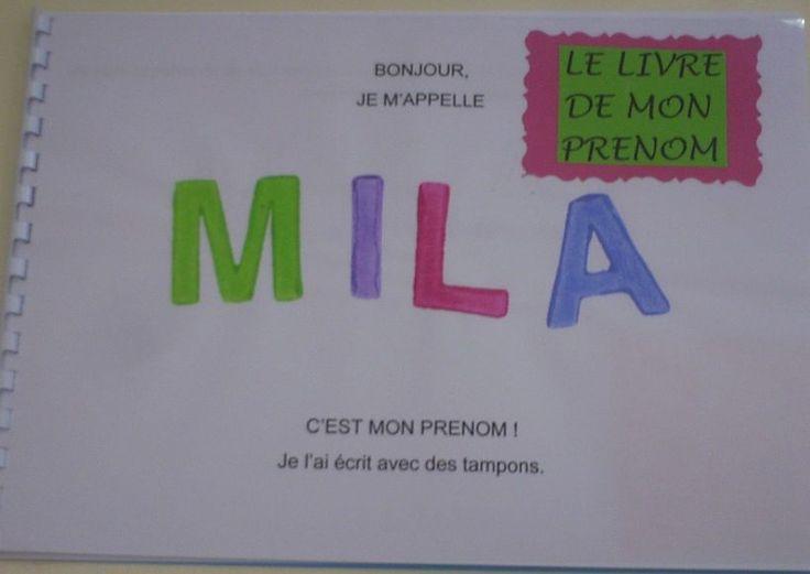 Le livre du prénom en PS | École Maternelle de la Hyse