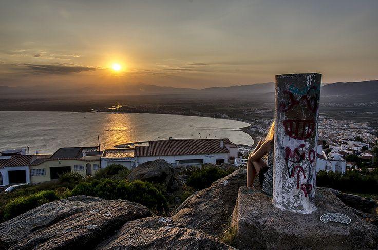 Nyder solnedgangen i spanien