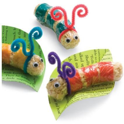 Birthday Fun   Rice Krispie Treat Worms: Crafty Critters for Kids