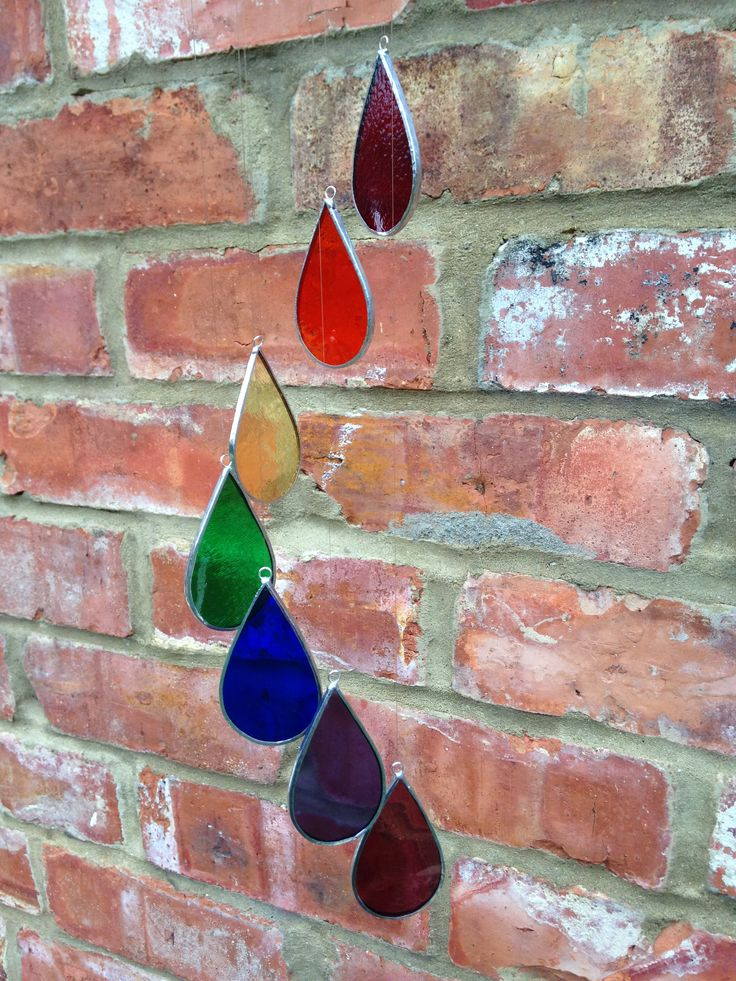 Stained glass rainbow drops