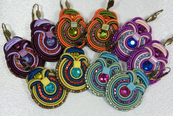 SALE 30 OFF  Soutache Earrings by BeadsRainbow on Etsy