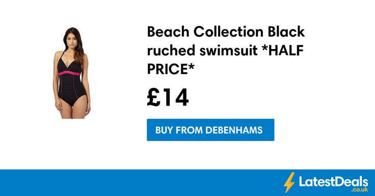 Beach Collection Black ruched swimsuit *HALF PRICE*, £14 at Debenhams