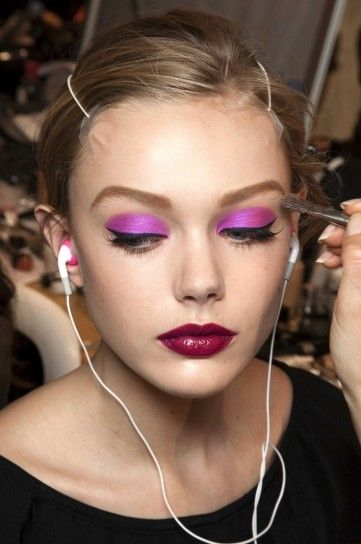 PANTONE Color of the Year 2014 - Radiant Orchid beauty . Maybe I should rock this look all year?