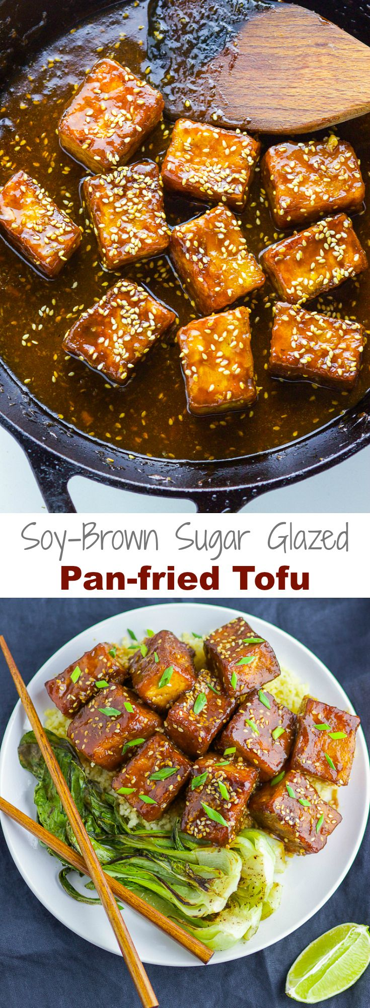 The perfect crispy tofu covered with a satisfying soy-brown sugar sauce, you won't miss meat anytime soon!