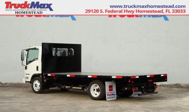 2018 Isuzu Npr Xd 16 Flatbed Truck Call Call 833 460 6501 For More Information Work Truck Car Detailing Trucks