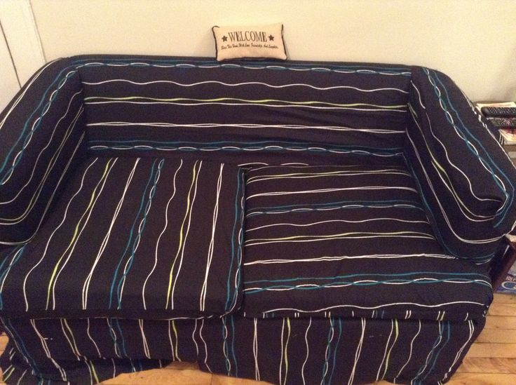 Recovered my sofa! From old to new:)