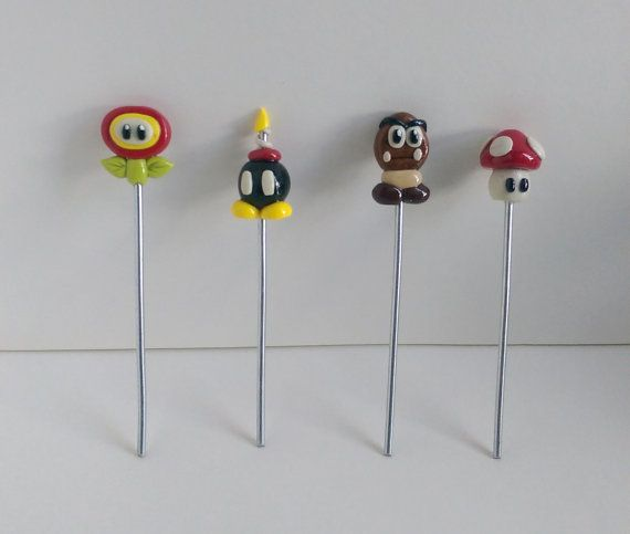 Mario Polymer Clay Poker Sets!   Check out this item in my Etsy shop https://www.etsy.com/listing/264336723/mario-polymer-clay-poker-set