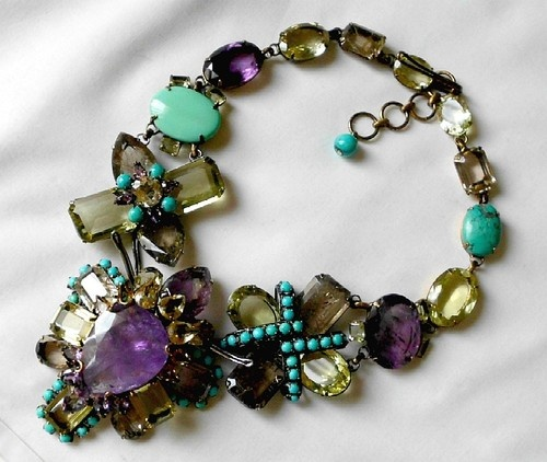 Iradj Moini Huge Amethyst Floral Necklace from 2012 Spring Collection   eBay