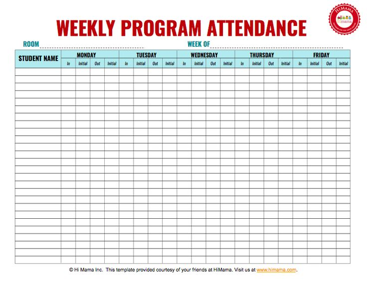 Best 25+ Attendance sheet template ideas on Pinterest Attendance - club sign up sheet template