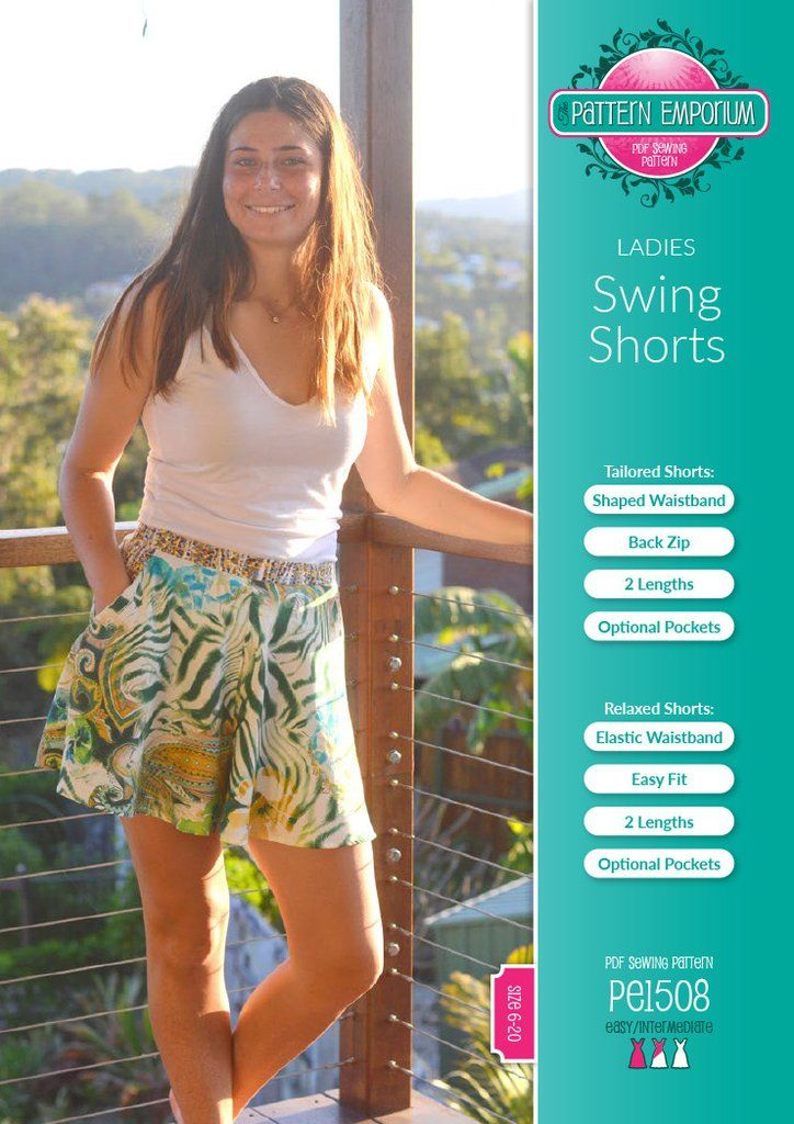 Swing Shorts sewing pattern by Pattern Emporium