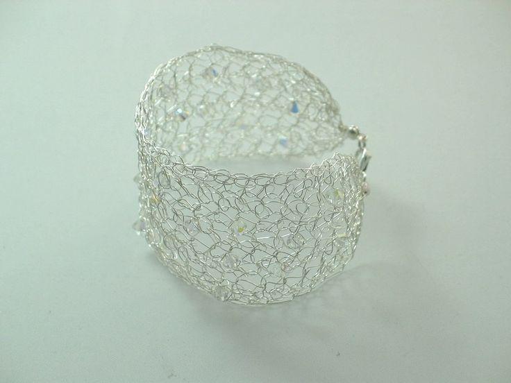 Filigranes Armband Silber mit Swarovski Kristallen von la-filigrana auf DaWanda.com