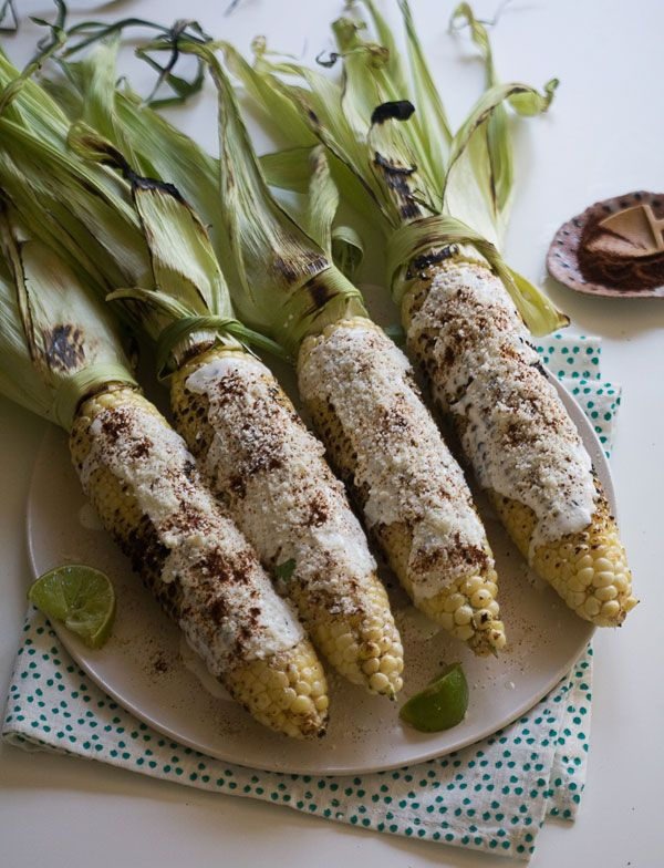 Elote recipe for Mexican Corn on the Cob from PBS Food