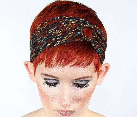 Brown Print Headband  womens head band ,                 Vintage Style Headband , wide cotton headband $30