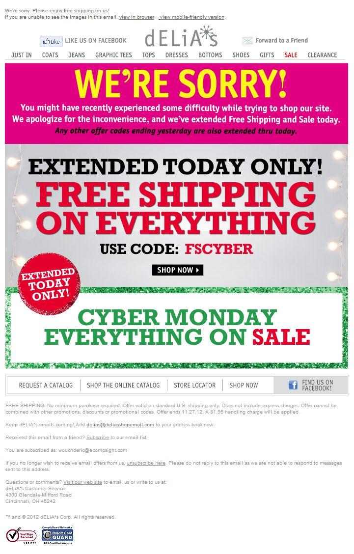47 best cyber monday email design gallery images on pinterest please enjoy free shipping on us plus site wide sale fandeluxe Gallery