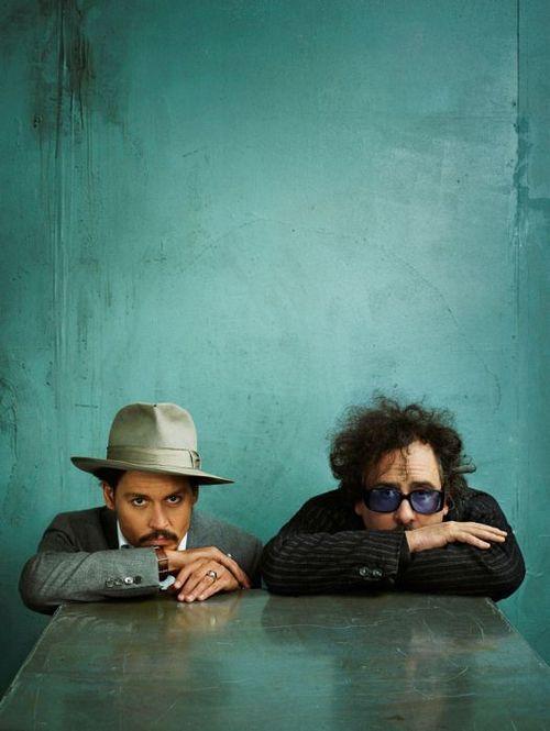 Johnny Depp & Tim Burton photographed by Marc Hom