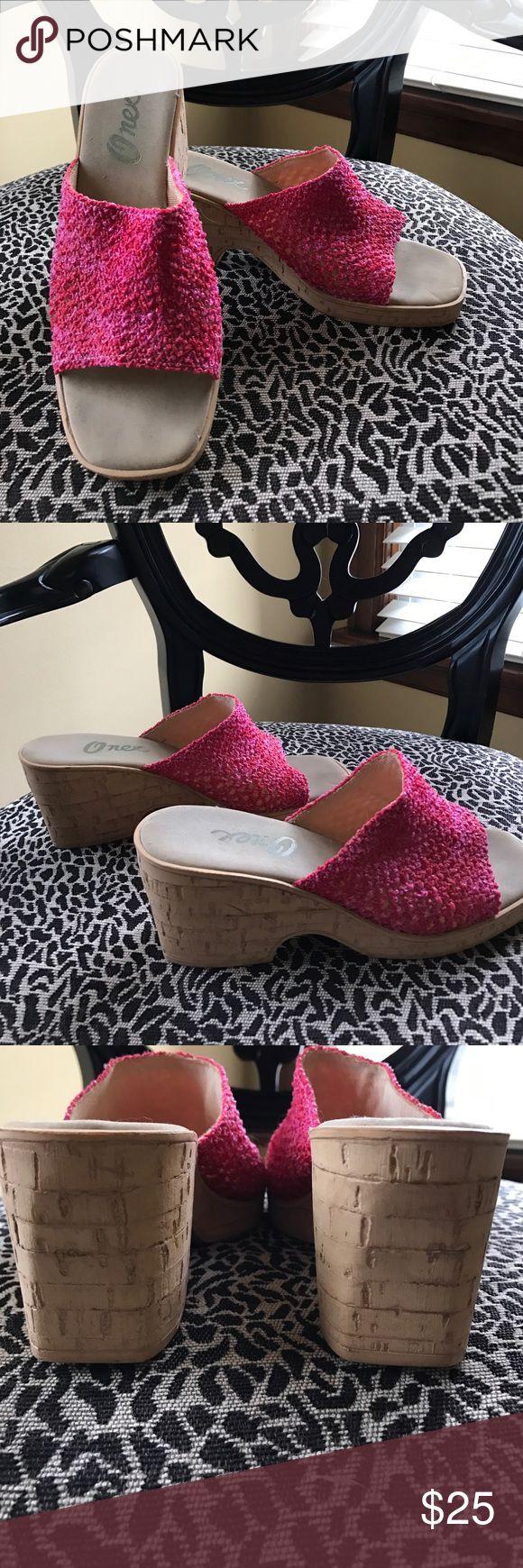 Onex slip on sandals Onex slip on sandals, faux cork sides. Great for summer🌸 ONEX Shoes Sandals