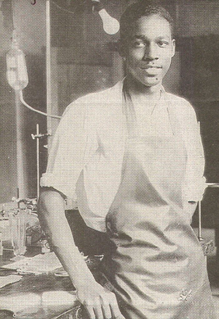 Vivien Thomas, cardiac surgery pioneer, 1940's, http://www.imdb.com/title/tt0386792/?ref_=nv_sr_1 . OP: Saw the movie about this guy. Really good. It was Severus Snape and Mos Def fighting hate by fixing hearts. Good watch.