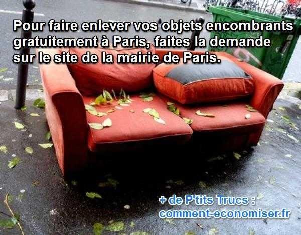 L Enlevement Des Objets Encombrants C Est Gratuit A Paris Astuce Rangement Paris Faire Soi Meme
