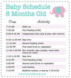 Baby schedule
