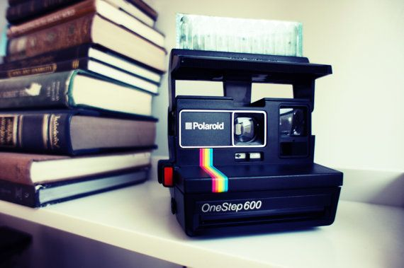 Polaroid Camera OneStep 600 Rainbow Spirit with Flash by ForgottenCharm, $30.00