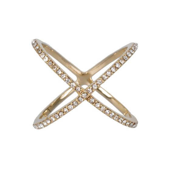 Loving this XO Pave Ring. The style is all the rage in Hollywood complete with pave diamonds. You can get a look-alike for a fraction of the cost with Swarovski crystals at joyous.com
