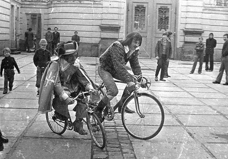 """Михаил Боярский и Вениамин Смехов на съемках фильма """"Три мушкетера"""" 1978 г."""