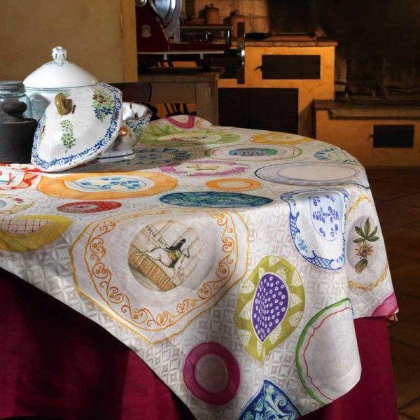 Tovaglia puro lino Limoges Tessitura Toscana Telerie